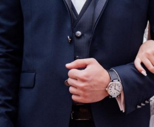 Mørkeblå jakkesæt